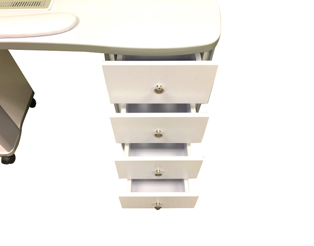 Manicure Table with Fan Nail Station White - DevLon NorthWest