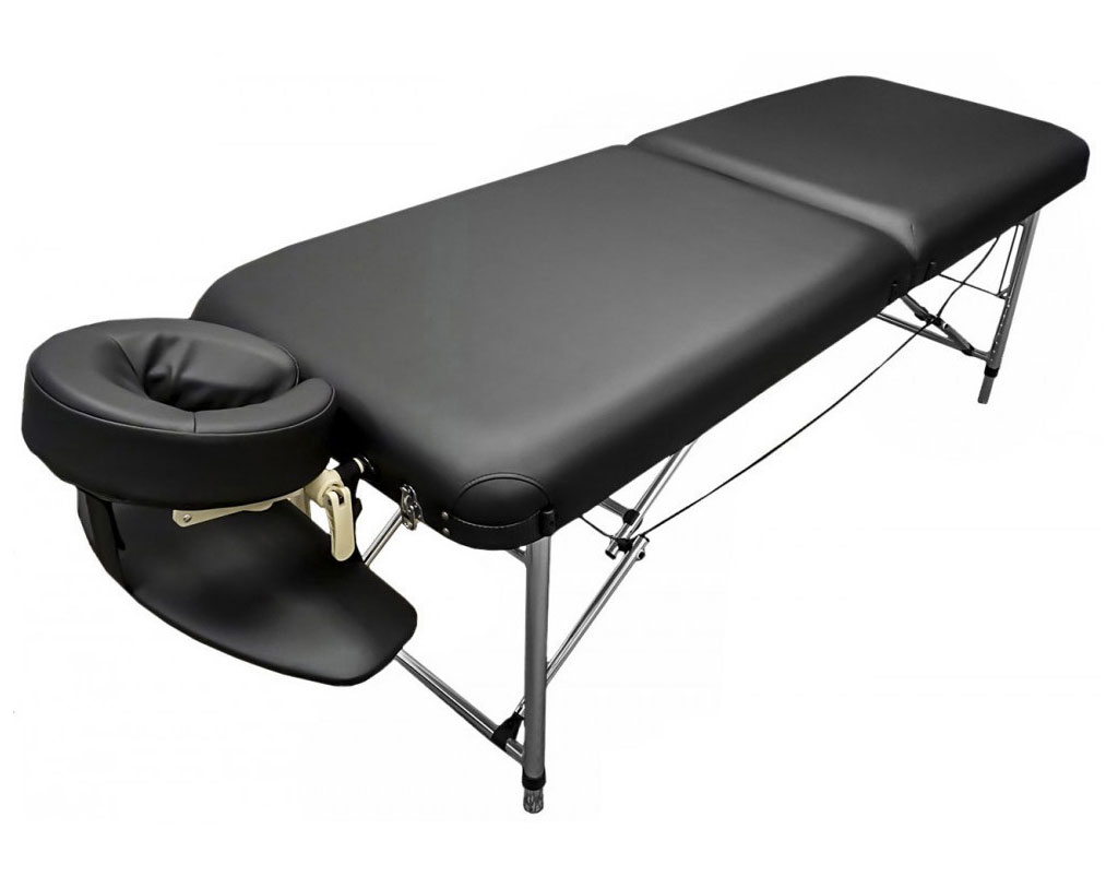ff6a1f5b4ca2 Portable Aluminum Massage Table Francis 26″ Wide Light Weight Black Table