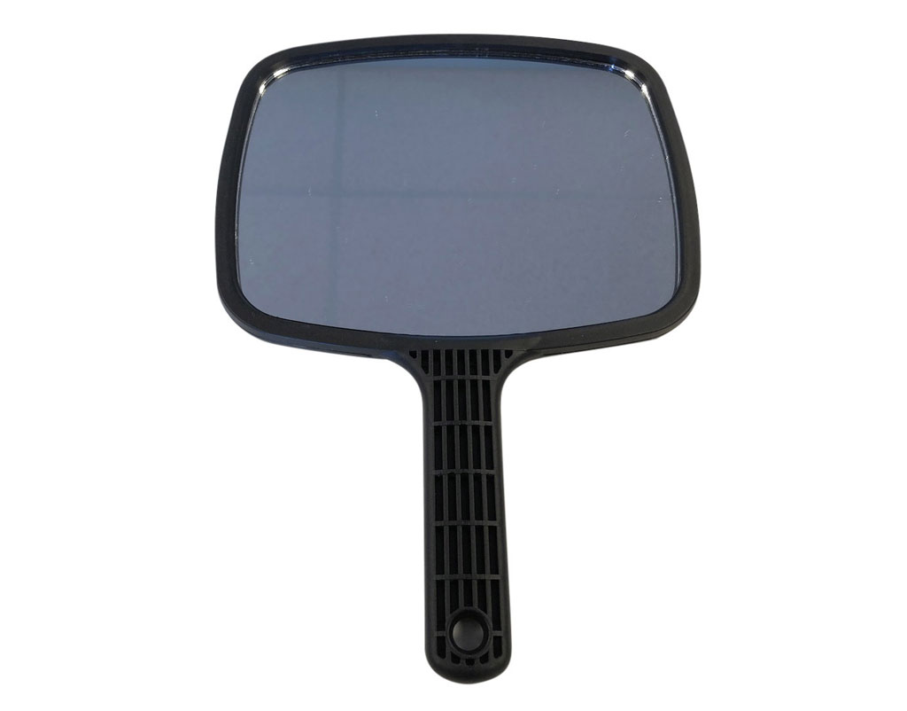 Hand Held Mirror Large Professional Salon Barbers Hairdresser With Black Handle